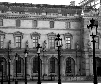 Lamp Posts Louvre forecourt