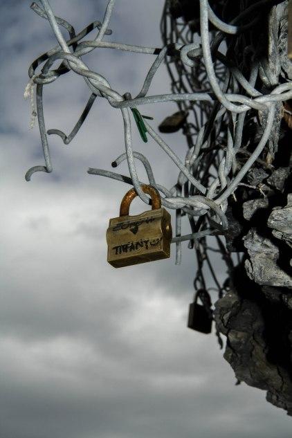 Love locks Cinque Terre trail