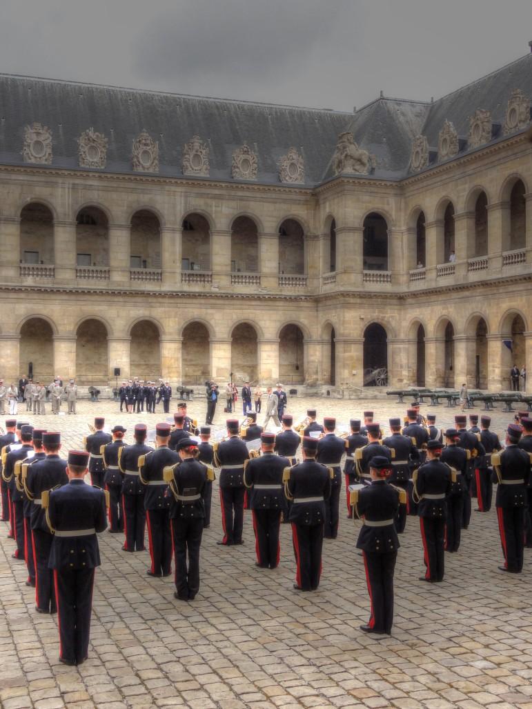 military parade Les Invalides Paris