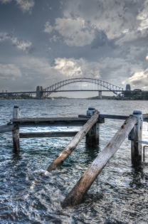 Fort Denison towards Harbour Bridge