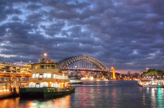 Night-time Sydney Harbour
