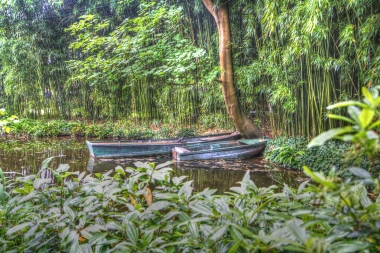 Boats Monet's garden