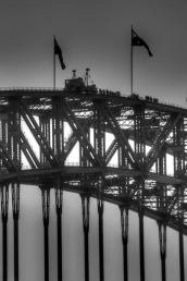 On top Sydney Harbour Bridge