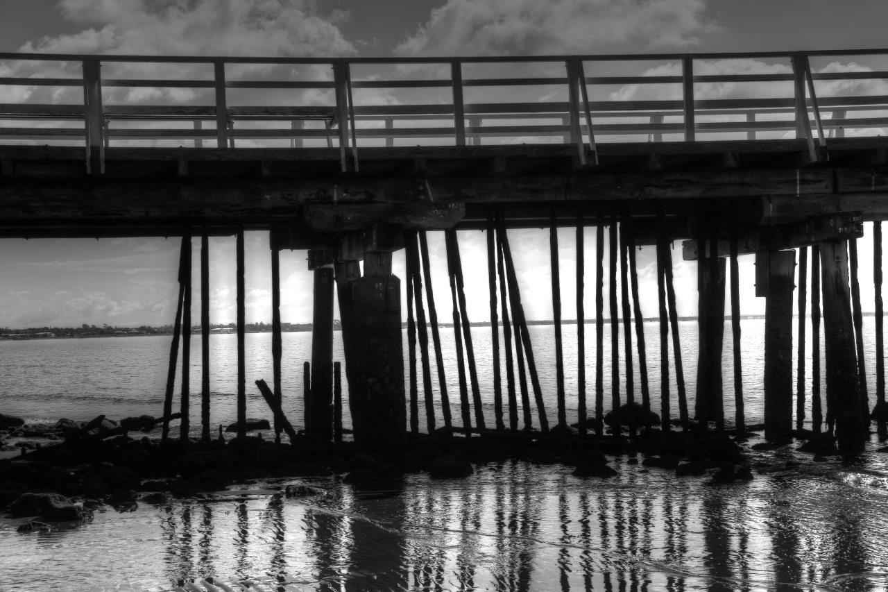 Monochrome Madness: Shorncliffe Pier