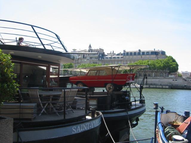 car-on-boat-seine-river-paris