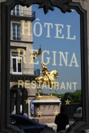 Reflection of Jeanne D'Arc Paris