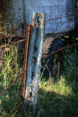 old wood post