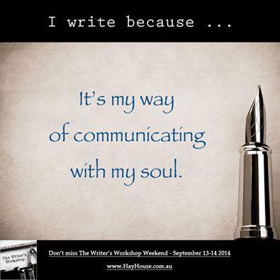 I write because….