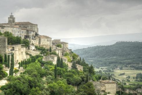 Gourdes hillside town