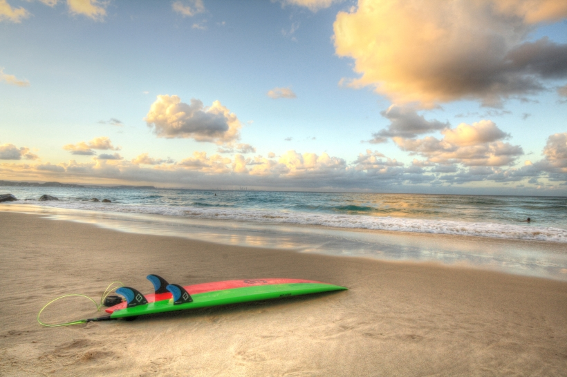 rainbow beach-surf board