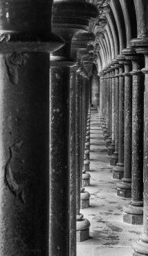 cloisters Mt St Michel