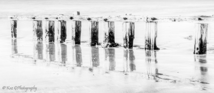 Victor Harbour old pier BW