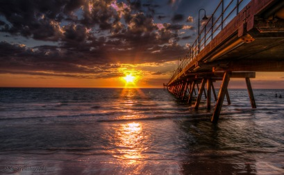 sunset Glenelg Jetty