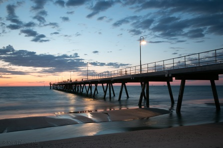 Glenelg pier sunset Friday3