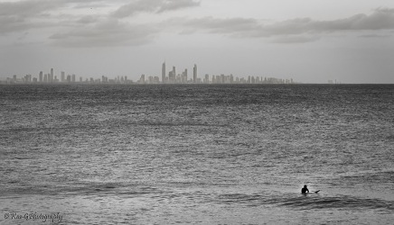 Surfers Paradise from Rainbow Bay