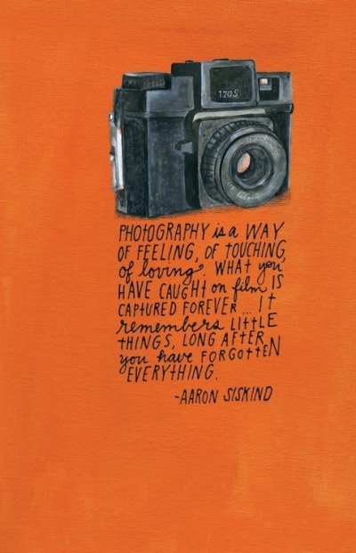 photography quote Aaron Siskind
