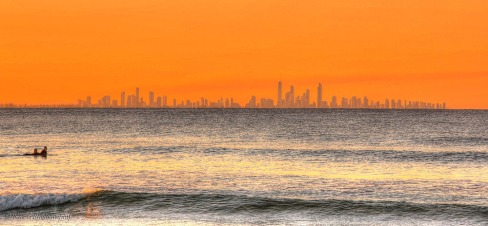 Surfers Paradise on Sunset