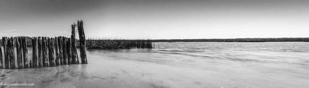 Cudgen Lake Pano | Monochrome Madness 2 – 29