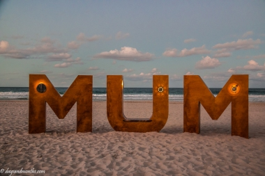 Mum at the beach-1
